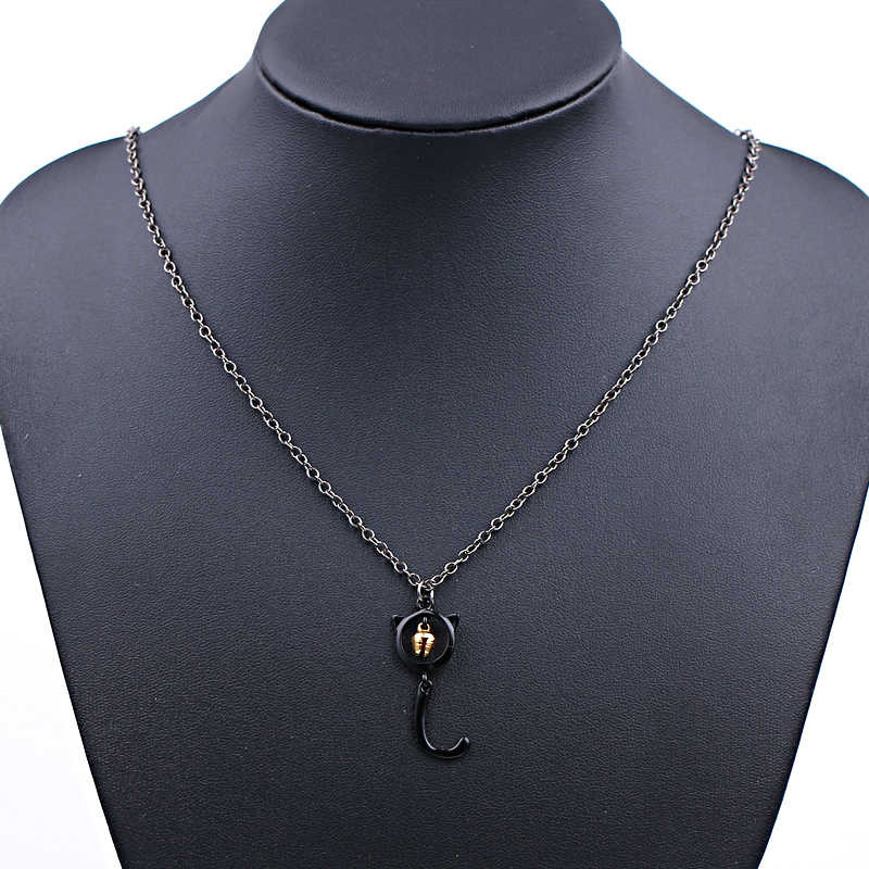 แมวน่ารักจี้สร้อยคอ Ladybug มหัศจรรย์สร้อยคอสีดำแมว Bell สร้อยคอ Noir ผู้หญิงและผู้ชายเครื่องประดับ