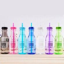 Спортивная бутылка для воды без бисфенола, портативная пластиковая бутылка для лимона, велосипеда, путешествий на открытом воздухе, скалолазания, лагеря, соломы, цветов, милые бутылки, чайник