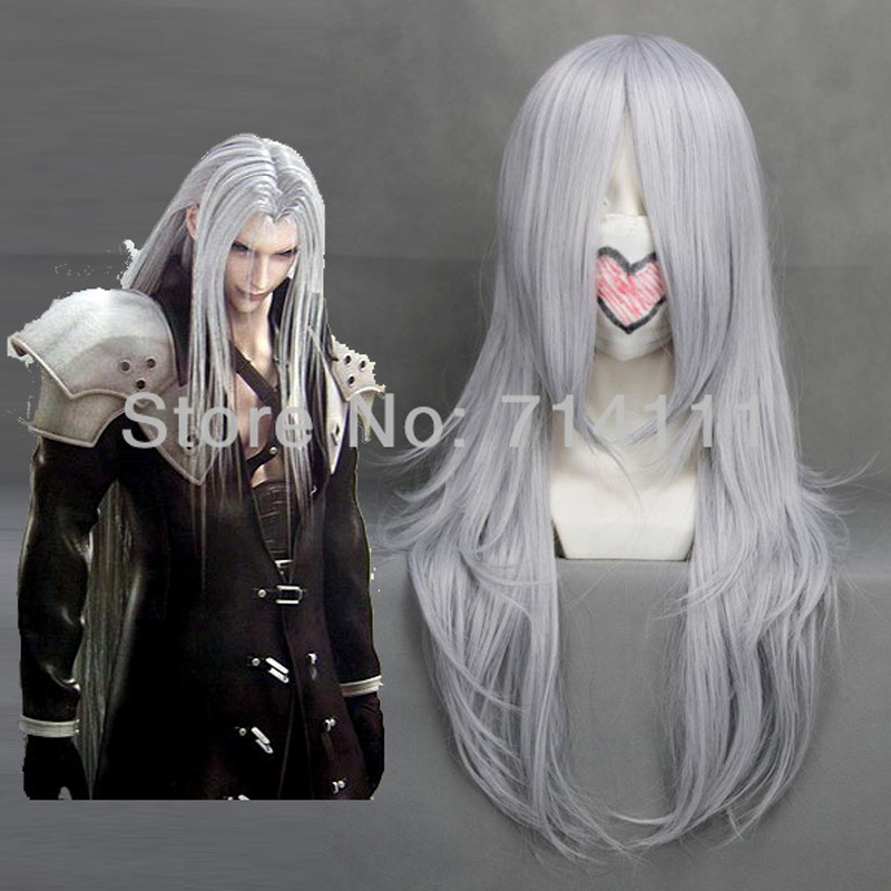 Final Fantasy 7 VII Advent Anime Game Play Wig Sephirot Cloud Cosplay Wig + Wig Cap