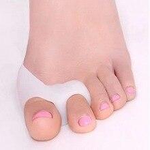 1 пара силиконовых гелевых пальцев ног с двумя отверстиями, разделитель пальцев, защита от вальгусной деформации большого пальца, регулятор вальгусной деформации, защита для ухода за ногами