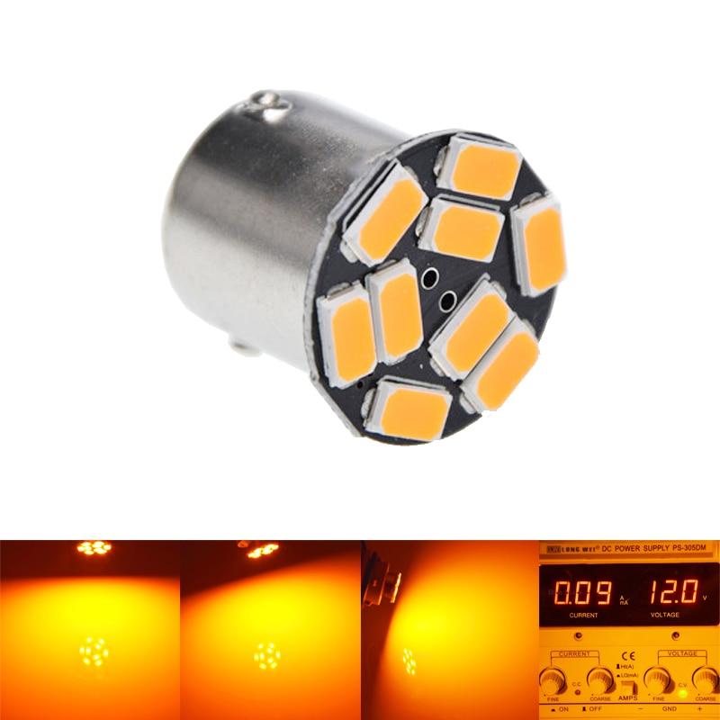 1Pcs Amber Yellow Orange BAU15S 7507 PY21W 1156PY 12V LED Bulb Lamp For Car Auto Front Turn Signal Light Styling