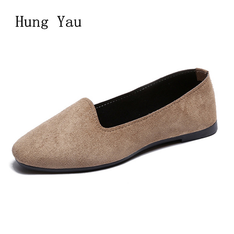 Big Size Women Flats Candy Color Shoes Woman Loafers Square Toe Spring Autumn Flat Casual Shoes Women Plus Size 35-42 2017 spring summer new women casual pointed toe loafers flats ballet ballerina flat shoes plus size 34 43