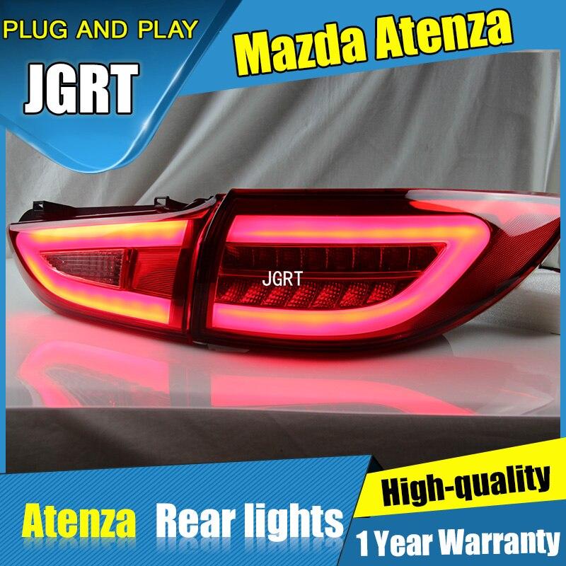 4PCS Car Styling for MAZDA 6 Taillghts 2014-2015 for 6 LED Tail Lamp+Turn Signal+Brake+Reverse LED light 4pcs lot ferodo front car brake pads for volkswagen toureg 7l6 v6 fsi 3 6 fdb1877