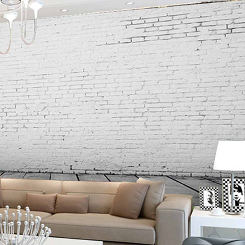 US $9.28 37% OFF|Custom 3D photo wallpaper 3D stereo retro white brick  wallpaper mural living room bedroom office cafe restaurant wallpaper-in ...