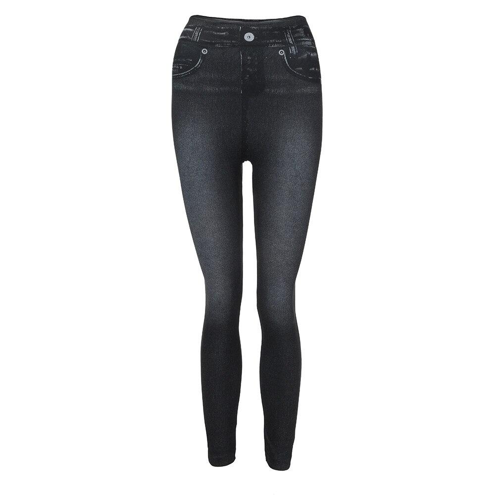 HTB1gvE1bozrK1RjSspmq6AOdFXau #40 Women's Leggings Casual Sexy Girls Leggings Pure Black Denim Trousers Pocket Slim Leggings Fitness Large Size Leggings Jeans