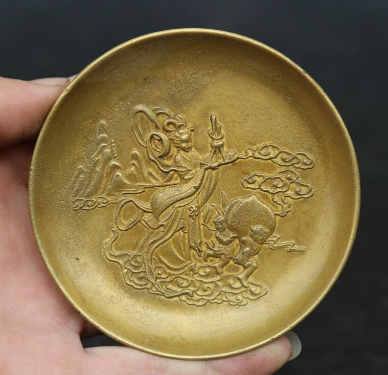 3.3Collect China Fengshui Bronze Pretty Beautiful Plum Blossom Small Plate Dish3.3Collect China Fengshui Bronze Pretty Beautiful Plum Blossom Small Plate Dish