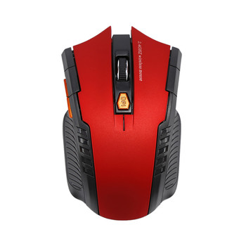 1600DPI Gaming Mouse Wireless Mouse 6 keys 2.4GHz Wireless Computer Mouse mice New 2.4Ghz Wireless USB Mouse Gaming Mouse For La - Red, China