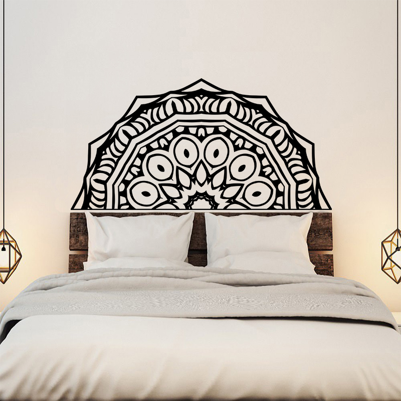 Creative Mandala Flower Wall Sticker Bed Headboard Wallpaper Wall