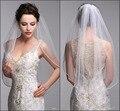 2016 One Layer Bridal Veils Comb Velos De Novia Birdcage White Ivory Tulle Beaded Edge Pearl Short Wedding Veil