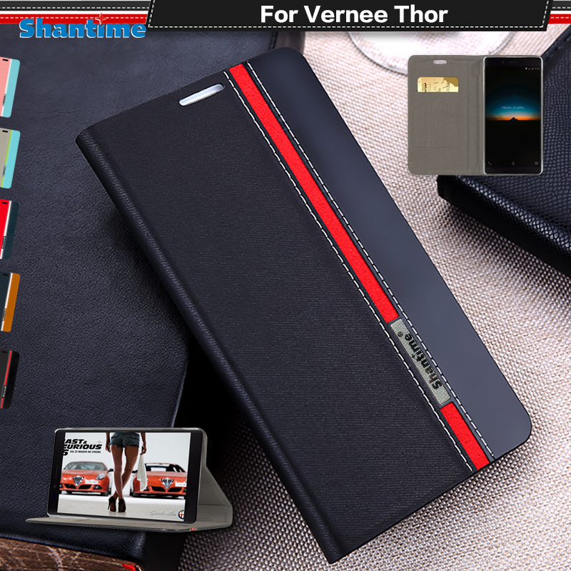 Book Case For Vernee Thor Flip Case Luxury Vintage Pu Leather Wallet Phone Bag Case For Vernee Thor Business Case