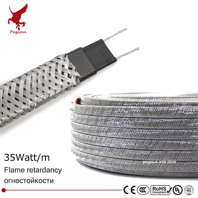 100m 220V 10mm Shielding Flame retardant heating cable Self-limiting temperature Water pipe protection Roof deicing Heating belt все цены