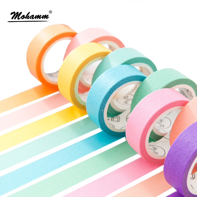 24 Style Creative Solid Color Japanese Decorative Adhesive Tape Washi Tape DIY Scrapbooking Masking Tape School Office Supply colorful gilding hot silver alice totoro decorative washi tape diy scrapbooking masking craft tape school office supply