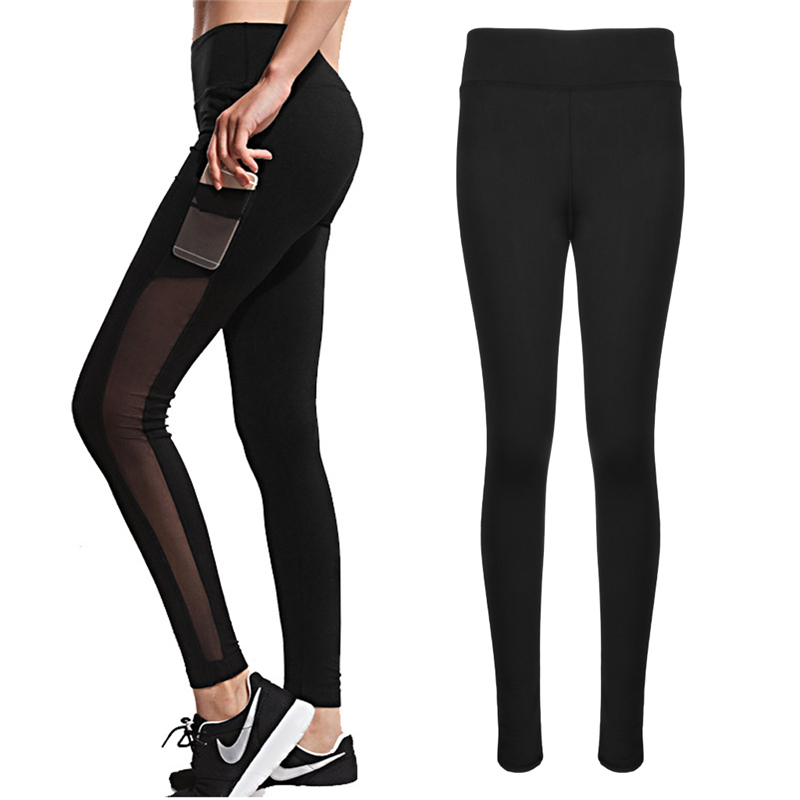 2017 Harajuku athleisure leggings women mesh splice fitness slim black legging sportswear clothing new leggins hot bodybuilding