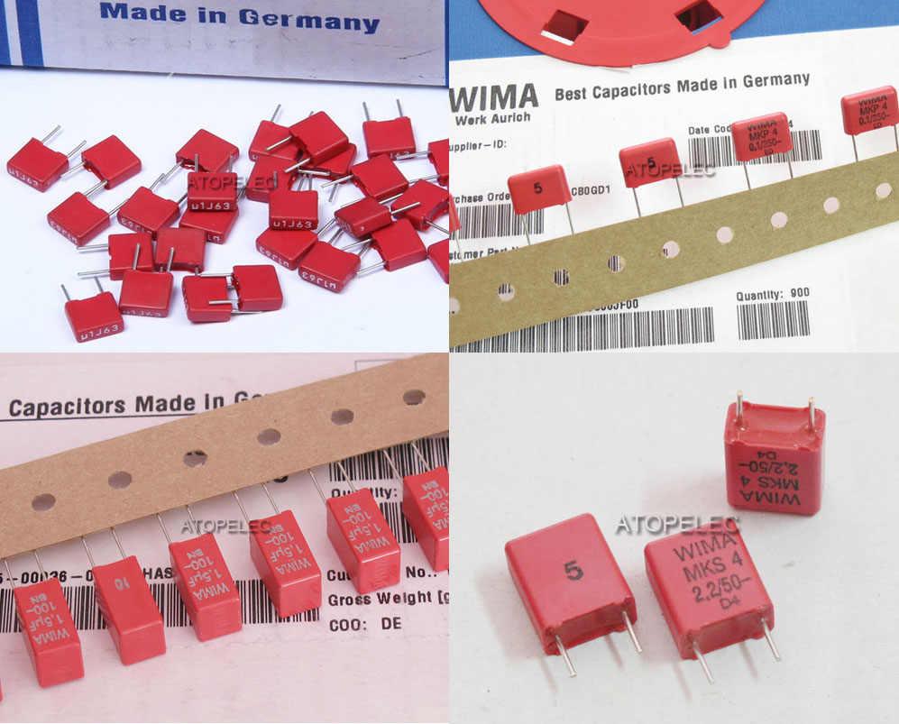 1pc WIMA MKP4 MKS2 MKS4 סרט קבלים Hi-Fi אודיו 0.047 uF/0.1 uF/0.22 uF/0.33 uF/1 uF/1.5 uF 63 V/100 V/250 V