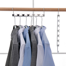 6 Hole Shirts Clothes Hanger Holders Multifuction Save Space Non-slip Clothing Organizer Practical Racks Hangers for Clothes