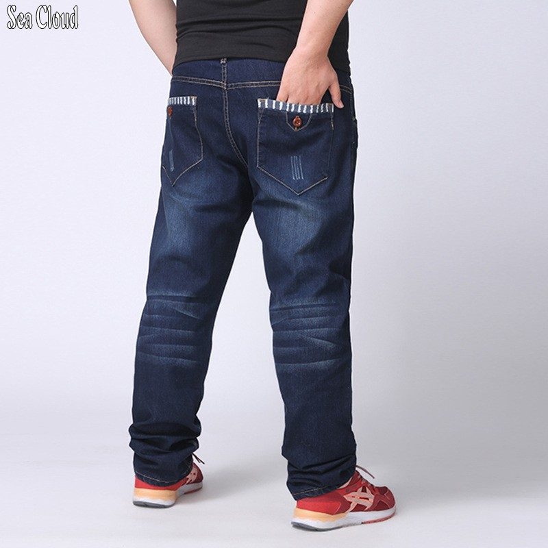 Sea Cloud Free shipping men straight jeans male plus size 28-48 slim long trousers loose man hiphop pants extra large hip hop afs jeep autumn jeans mens straight denim trousers loose plus size 42 cowboy jeans male man clothing men casual botton