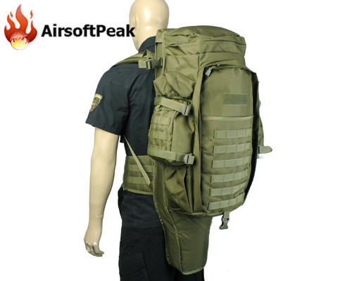 Molle Extended Full Gear Dual Rifle Backpack Hunting Shooting Wargame Hiking Outdoor Shotgun Sport Gun Backpack Case tactical molle extended full gear dual rifle gun combo backpack airsoft paintball hunting wargame nylon gun bag case tan