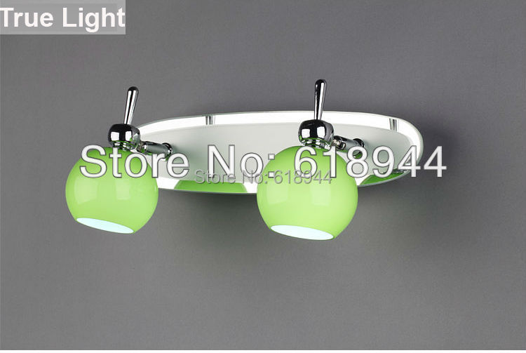 ФОТО Hot selling creative wall lamp, mirror wall lamps for home with 2 heads, wall art decore mirror lighting free shipping
