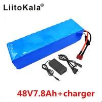 LiitoKala 48 V 7.8ah 13s3p High Power 18650 Batterij Elektrische Auto Elektrische Motorfiets DIY Batterij BMS Bescherming + 2A Charger-in Batterij pack van Consumentenelektronica op