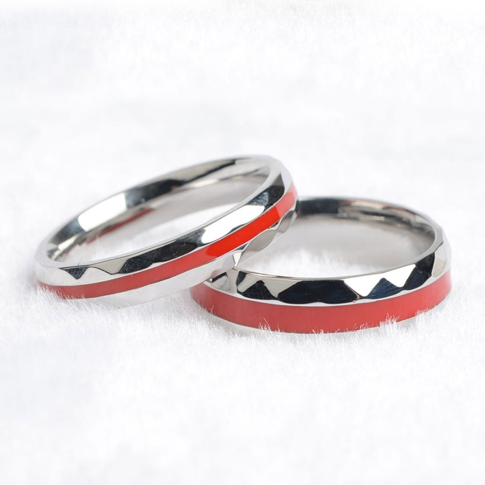 Aliexpress : Buy Keisha Lena Hot Sale Red Line Firefighter Rings For  Men Women Lover's Couple Ring 316l Stainless Steel Engagement Jewelry From  Reliable