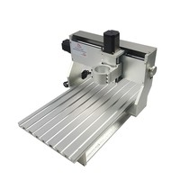 DIY mini cnc milling machine 3040 metal engraving machine cnc router frame with 65mm Spindle motor clamp