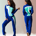 2017 New Spring  zipper Tracksuits Women Two Pieces Set Fall Casual Long Sleeve Women Suit Costumes Sweatshirt+Harem Pant DYF108