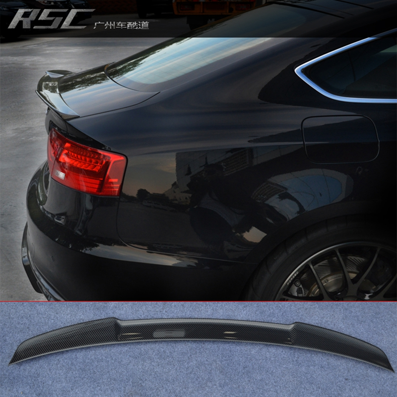 M4 style A5 Carbon Fiber Rear Trunk spoiler wing for Audi A5 4Door 2010-2015 for audi a4 b8 carbon rear spolier m4 style carbon fiber rear spoiler rear trunk wing for audi a4 b8 spoiler 2009 2010 2011 2012