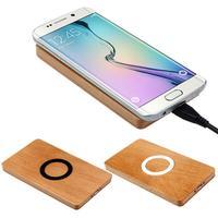 Деревянный Ци Беспроводной Зарядное устройство Мощность площадку для Samsung Galaxy s6/S6 Edge Бесплатная доставка Оптовая продажа