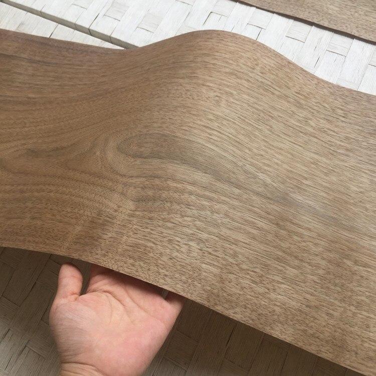 2X Natural Genuine Wood Veneer Sliced Light Walnut 30cm X 2.7m 0.25mm Thick
