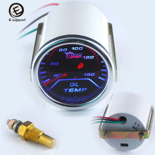 EE support Auto Accessories 2 52mm Oil Temp Gauge LED Light Display Car Vehicle Truck Temperature Indicator
