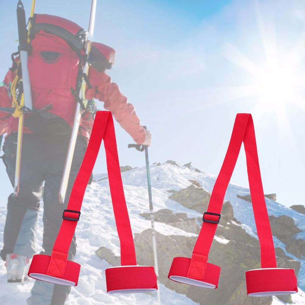 1Pcs Snowboard Fixing Ski Belt Binding Protection Tie Adjustable Skiing Snowboard Fastener Straps Ski Poles Anti-Slip Belt