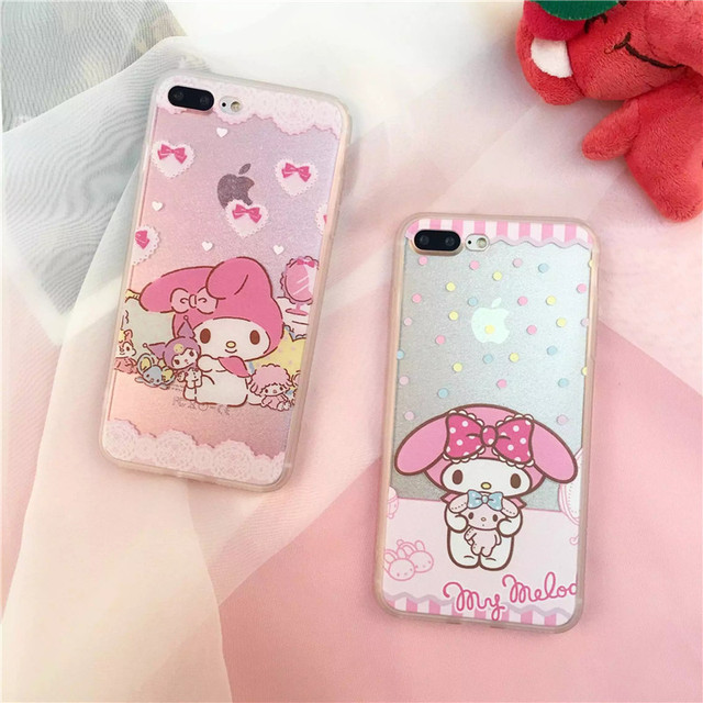 promo code 4dd40 88520 US $1.22 |Fashion Cartoon Cute My Melody Bowknot cover Case for iPhone 6 6s  plus 7 7 Plus Cover For iphone X 5s SE 8 Plus Capa Funda-in Fitted Cases ...