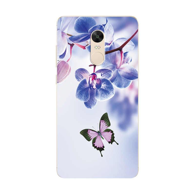 """Телефон случай для Redmi Примечание 4 4X5 5A про любовь задняя крышка с принтом сердца для Xiaomi Redmi 4A 4X3 S 4Pro 5A 5 большие сумки с принтом """"Бабочка"""" Coque"""