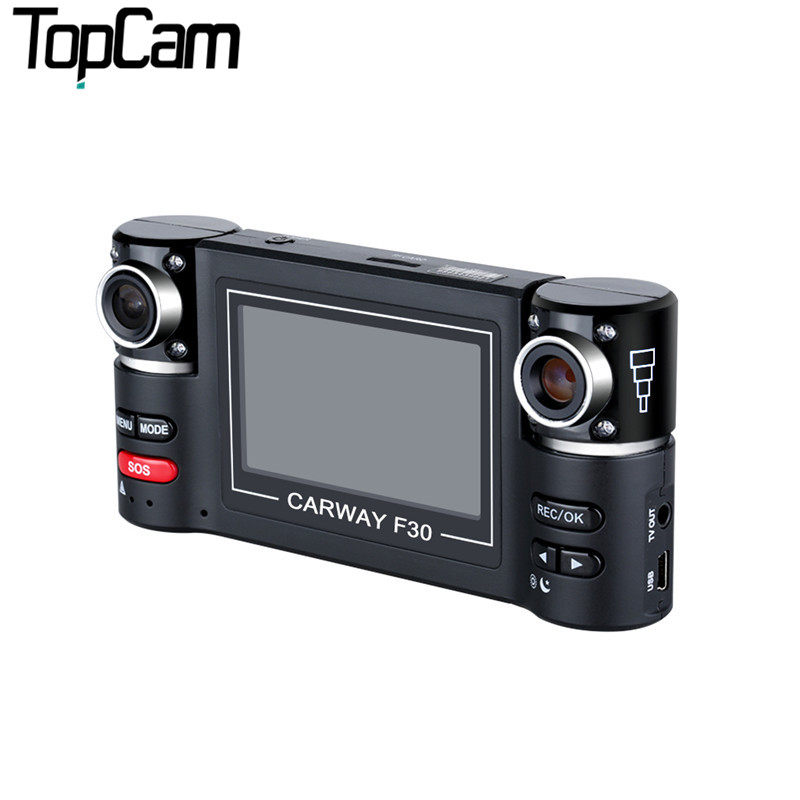 "2.7"" TFT LCD HD 1080P with Double Cameras Rotated Lens Car DVR Vehicle Digital Video Recorder Support Night Vision Function"