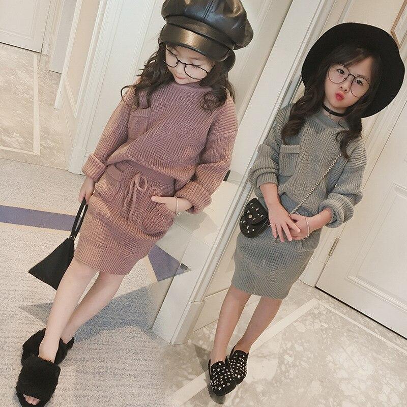 2019 New Baby Autumn Winter Kids Christmas Set 2 Pcs Set Children Chinese Dress Girl Fashion For Girls Winter Sweaters,#3707