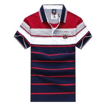 polo shirt men cotton polo shirt men for mens casual polo men shirt Brand Tace&shark lapel stripe embroidery 2018 summer