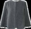 Женская мода Пальто 2016 серый шерсть & смеси женщин пиджаки кабо пончо плащ Шерсть Пончо Зима Теплая Куртка