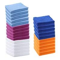 10 Cái/lốc Làm Sạch Khăn 40*40 cm Mềm Thấm Nước Sợi Nhà Nhà Bếp Xe Xe Đạp Vải Lau Rửa Làm Sạch khăn 5 Màu Sắc