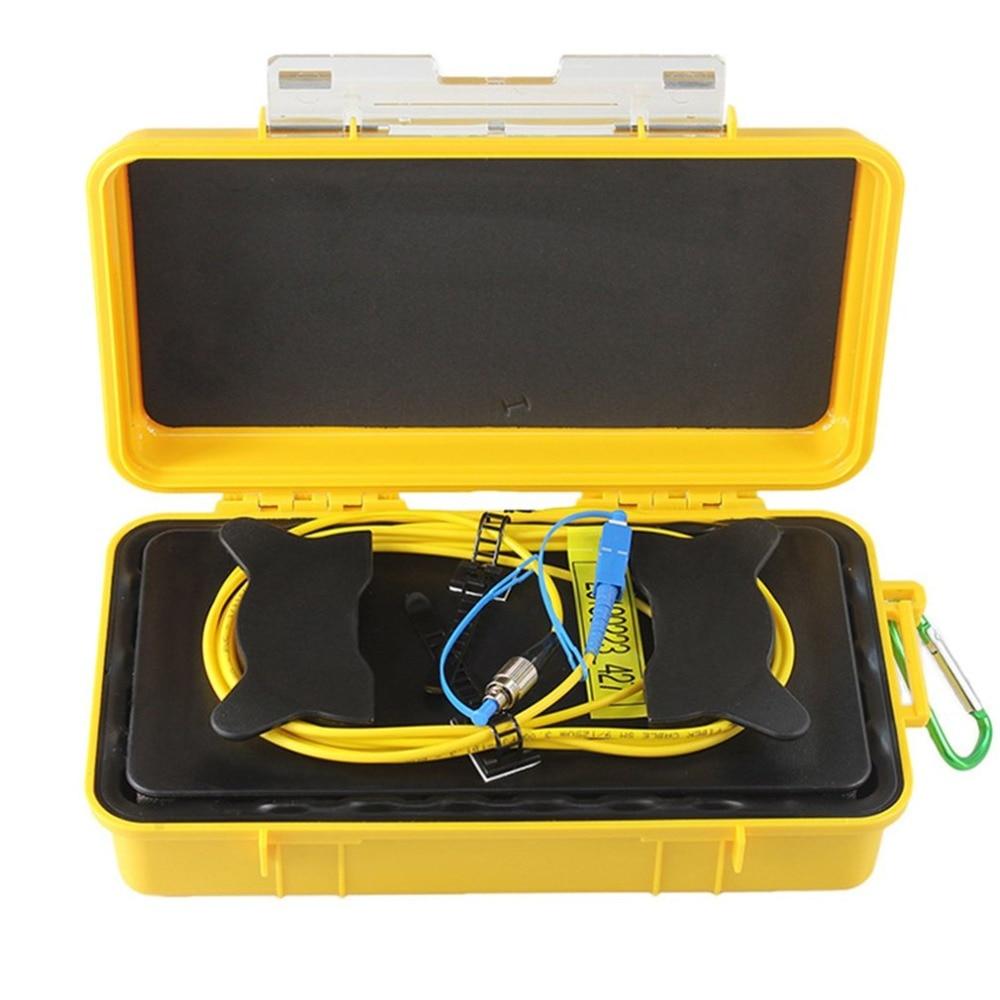 цена на FC-UPC/SC-UPC Professional Single Mode 500M OTDR Launch Cable Box Fiber Ring OTDR Launch Fiber Optic Cable