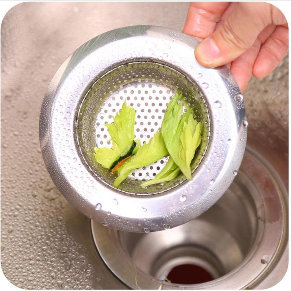 1 PC 4.3cm Mesh Kitchen Stainless Steel Sink Strainer Disposer Plug Drain Stopper Filter Size SM
