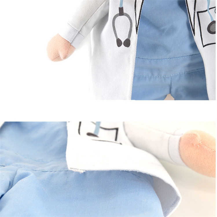 Funny Dogs Cat Costume Doctor Suit Pet Clothes Uniform Clothing for ...