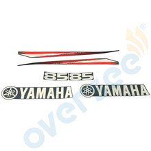 For Yamaha 85hp two stroke outboard graphics sticker kit Top Cowling Sticker