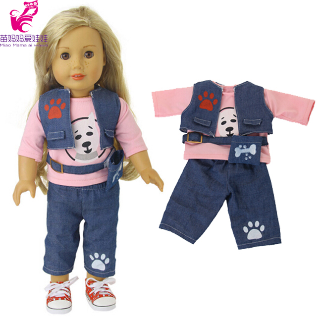 18-inch American Girl Doll Clothes pants set for 18 Alexander Baby Doll play toys baby girl Christmas gifts american girl doll clothes elegant color flower print long dress doll clothes for 18 american girl best gift 5 colors d 2