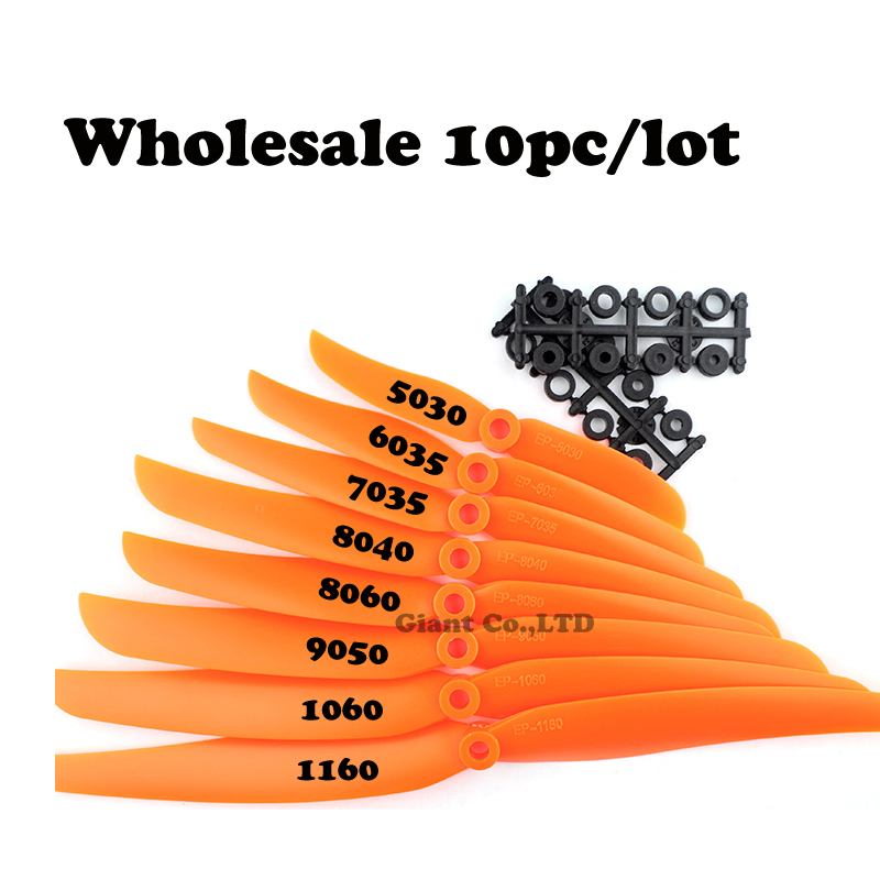 NZACE 10pc/lot GWS Screw <font><b>Propeller</b></font> PROP 5pk DD Flyer 10X6 C BS1V EP1160 1060 9050 8060 8040 <font><b>7035</b></font> 6035 5030 Free shipping image