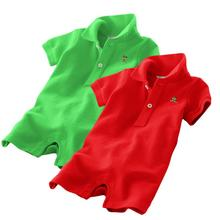 Newest 2014 summer unisex baby polo clothes top quality comfortable 100% cotton 9 colours romper infant clothes polo baby