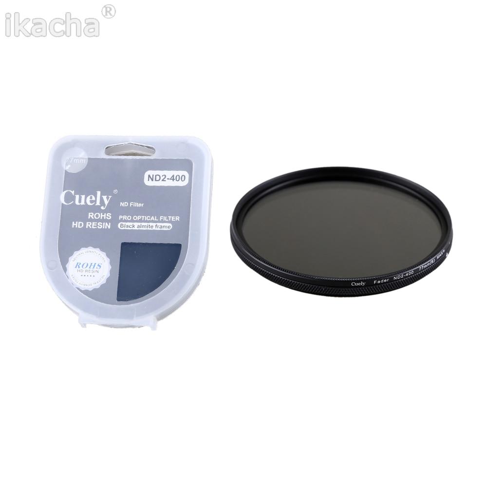 Novo 49 52 55 58 62 67 72 77 82mm nd fader ND2-400 filtro de densidade neutra variável para canon nikon sony lente da câmera