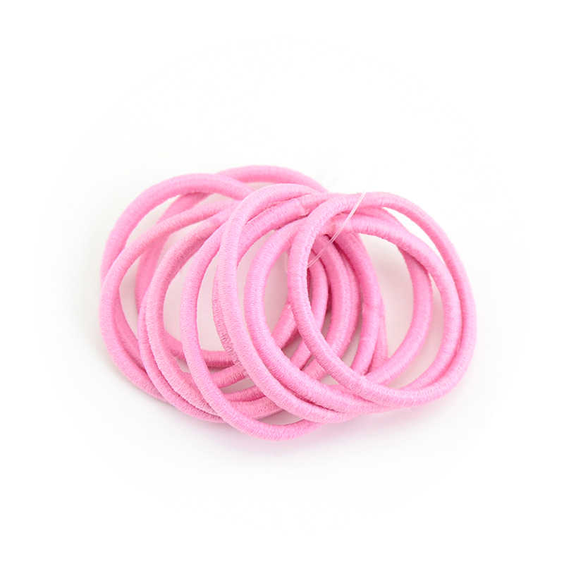 10 шт. толщина конфеты сплошной цвет эластичные волосы галстуки для девочек веревки женский хвостик зажим для волос аксессуары