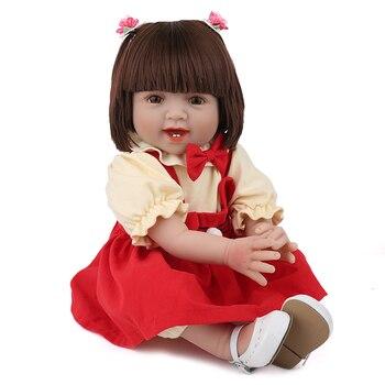 Bebes reborn dolls for girls  55cm silicone reborn baby doll l.o.l lifelike toddler boneca reborn menina surprise gifts NPK DOLL