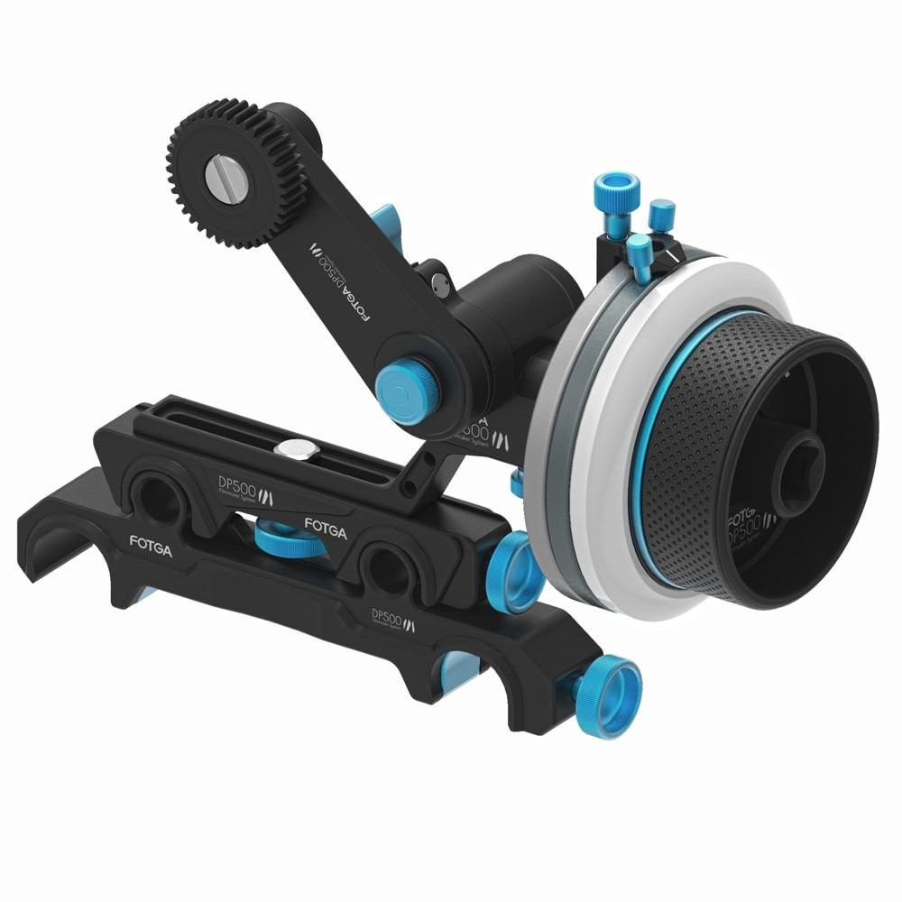 DP500III Follow Focus for BMPC FS100 FS7 5DII A7 Camera,Metal 15mm//19mm Slider Rig Rocker Arm Kit for SLR Camera Video Camera Single Electric Camera
