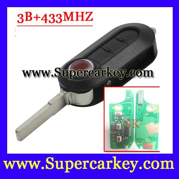 Free Shipping 1pcs Excellent Quality Remote Key for FIAT 500 Panda Punto Bravo Delphin Key PCF7946